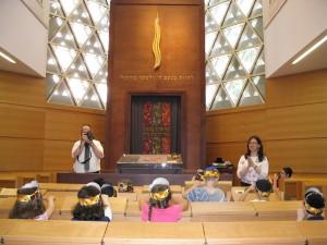 Unsere Vorschulkinder in der Ulmer Synagoge